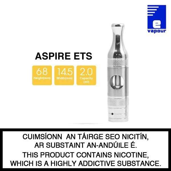 Aspire ET-S 2ml TPD Version - Tank Spesifications