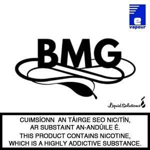 BMG Tobacco flavoured e-liquids - Made in Ireland