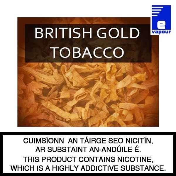 VIP British Gold Tobacco - 10ml Bottle