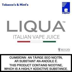 Liqua Logo - Tobacco's & Mints