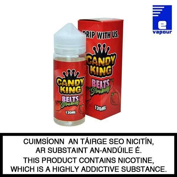 Candy King Belts Strawberry - 100ml Shortfill
