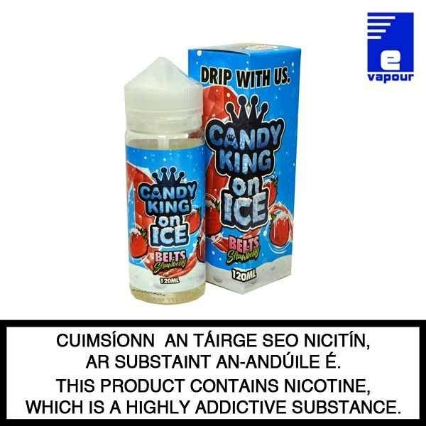Candy King Belts Strawberry On Ice - 100ml Shortfill
