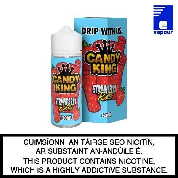 Candy King Strawberry Rolls - 100ml Shortfill