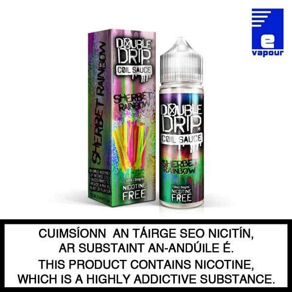 Double Drip 50ml Shortfill - Rainbow Sherbet