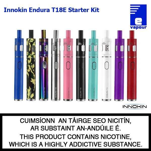 Innokin Endura T18E Starter Kit - 10 Colours