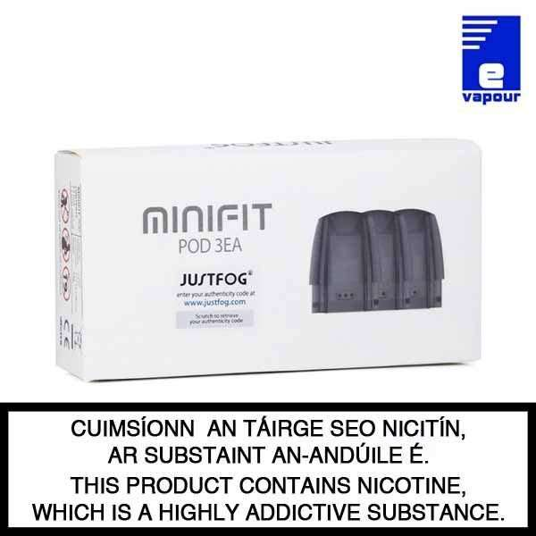 Justfog Minifit Replacement Pod - 3 Pack Packaging