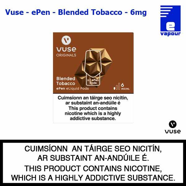 Vuse ePen Pods (2 Pack) - Blended Tobacco - 6mg