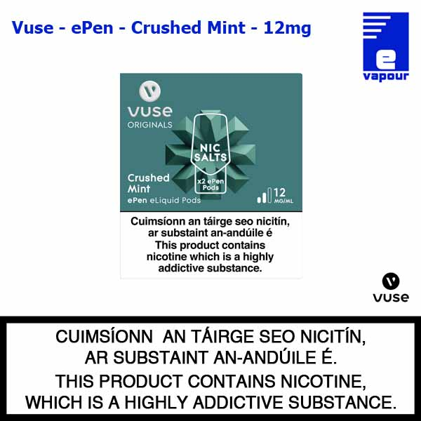 Vuse ePen Pods (2 Pack) - Crushed Mint - 12mg