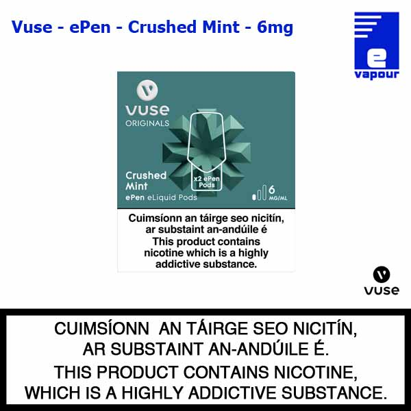 Vuse ePen Pods (2 Pack) - Crushed Mint - 6mg