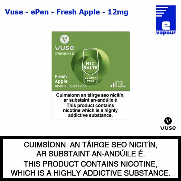 Vuse ePen Pods (2 Pack) - Fresh Apple - 12mg