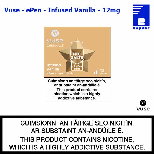 Vuse ePen Pods (2 Pack) - Infused Vanilla - 12mg