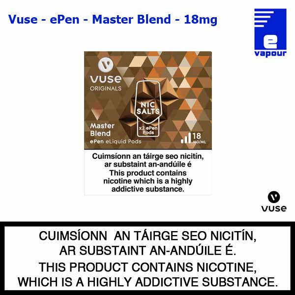 Vuse ePen Pods (2 Pack) - Master Blend - 18mg