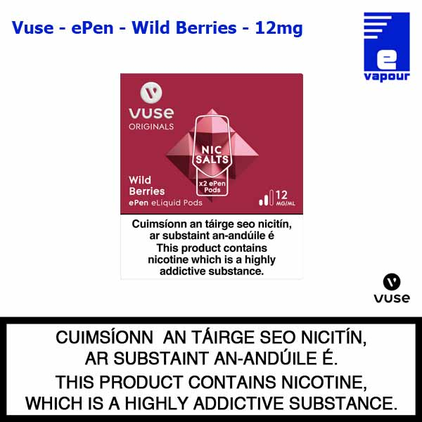 Vuse ePen Pods (2 Pack) - Wild Berries - 12mg