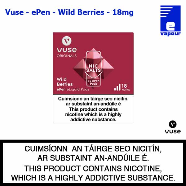Vuse ePen Pods (2 Pack) - Wild Berry - 18mg