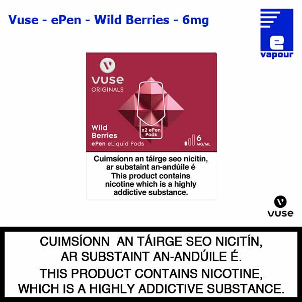 Vuse ePen Pods (2 Pack) - Wild Berries - 6mg