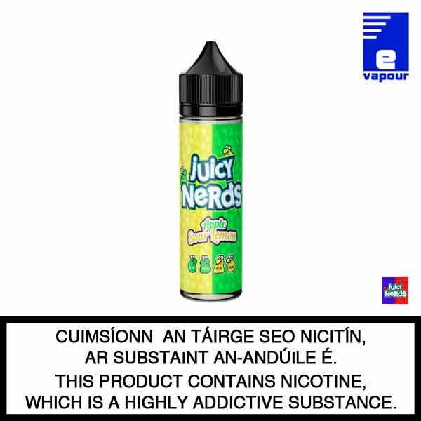 Juicy Nerds 50ml Shortfill - Apple Sour Lemon
