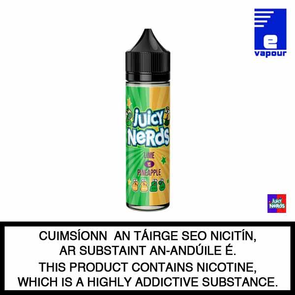 Juicy Nerds 50ml Shortfill - Lime Vs Pineapple