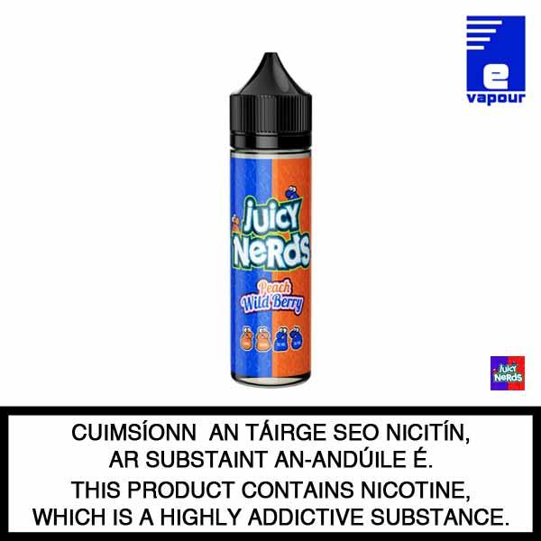 Juicy Nerds 50ml Shortfill - Peach Wild Berry