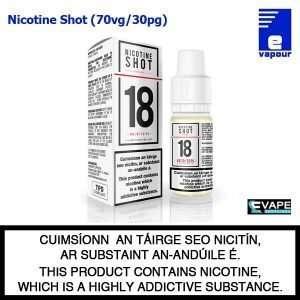 Nicotine Shot - 70vg/30pg