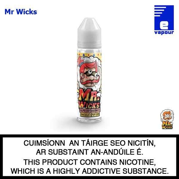 Mr Wicks 50ml Shortfill - Raspberry & White Chocolate Popcorn