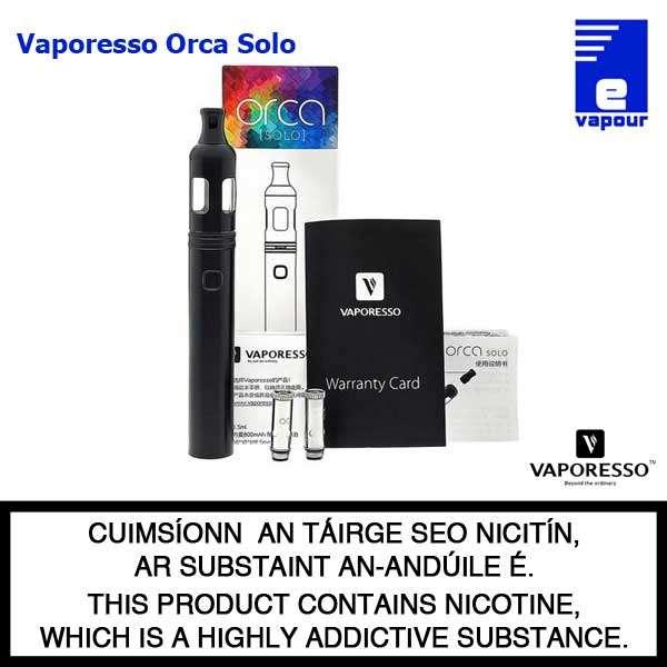 Vaporesso Orca Solo Starter Kit - Black (Kit Contents)