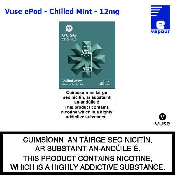 Vuse ePod 2 Pack - Chilled Mint - 12mg