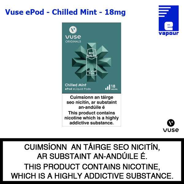 Vuse ePod 2 Pack - Chilled Mint - 18mg