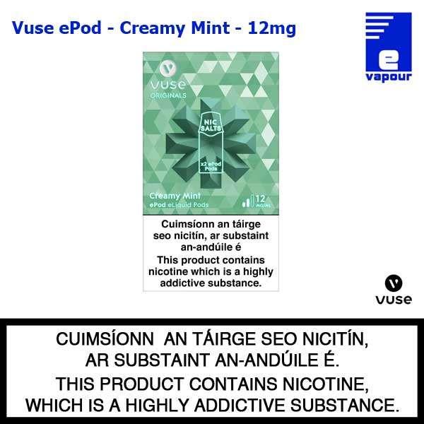 Vuse ePod 2 Pack - Creamy Mint - 12mg