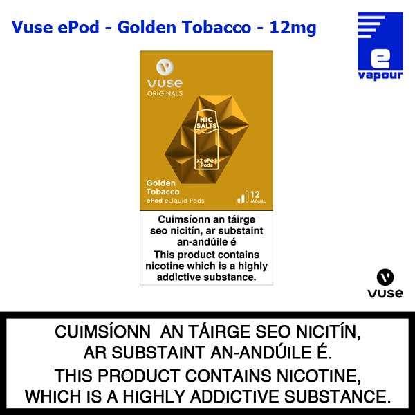 Vuse ePod 2 Pack - Golden Tobacco - 12mg