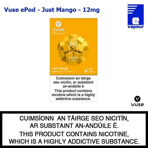 Vuse ePod 2 Pack - Just Mango - 12mg