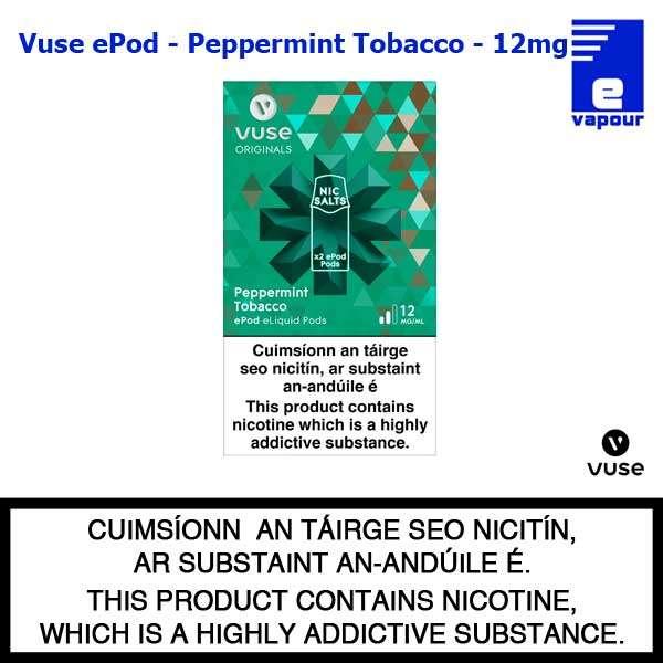 Vuse ePod 2 Pack - Peppermint Tobacco - 12mg