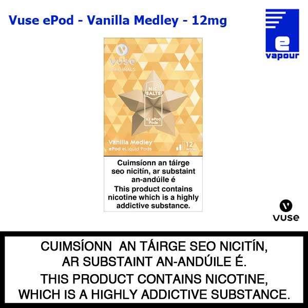 Vuse ePod 2 Pack - Vanilla Medley - 12mg