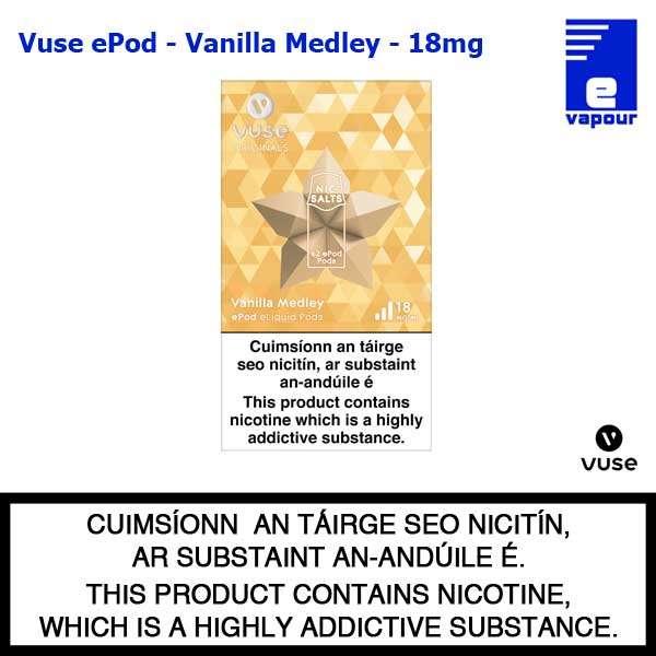 Vuse ePod 2 Pack - Vanilla Medley - 18mg