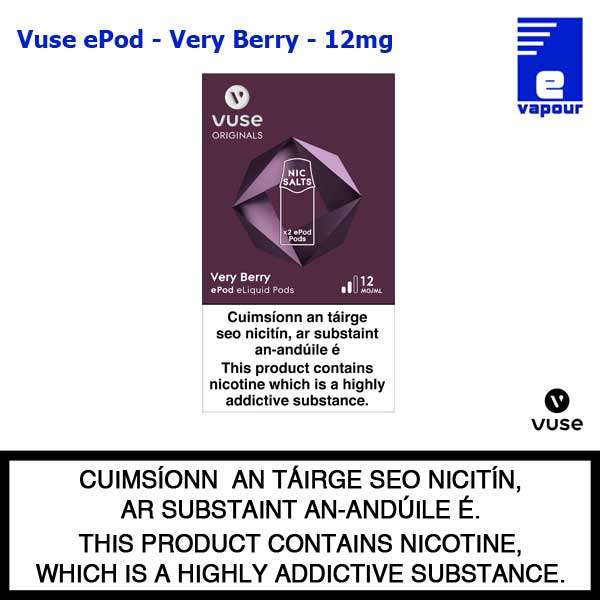 Vuse ePod 2 Pack - Very Berry - 12mg
