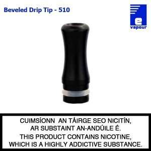 Black Aluminium Drip Tip - Beveled