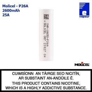 Molicel P26A - 18650 Cell Battery