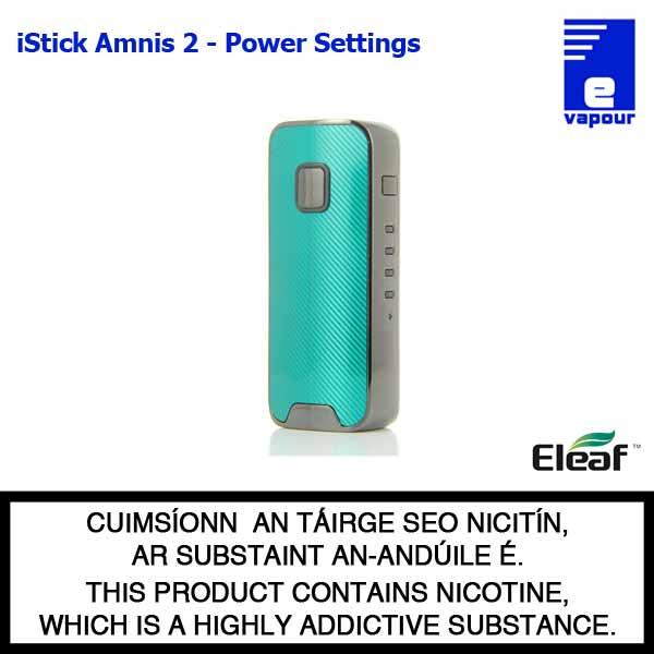 Eleaf iStick Amnis 2 Battery - 5 Power Settings