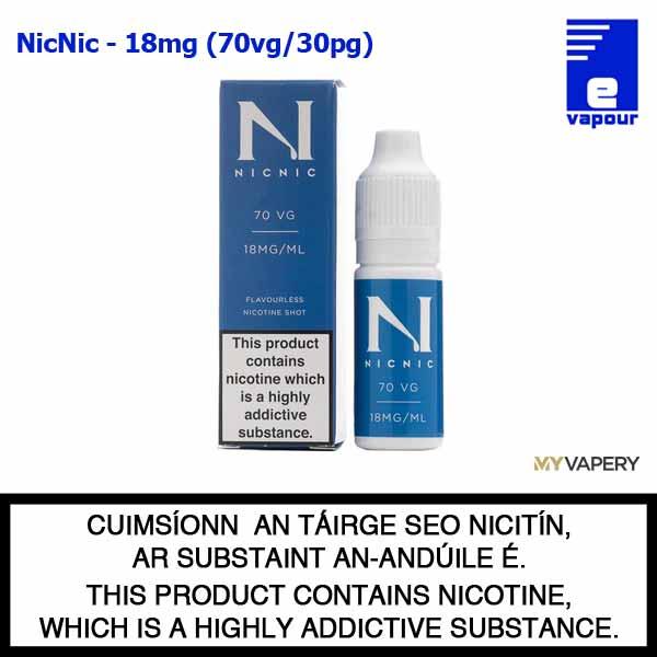 NicNic - 18mg Flavourless Nicotine Shot