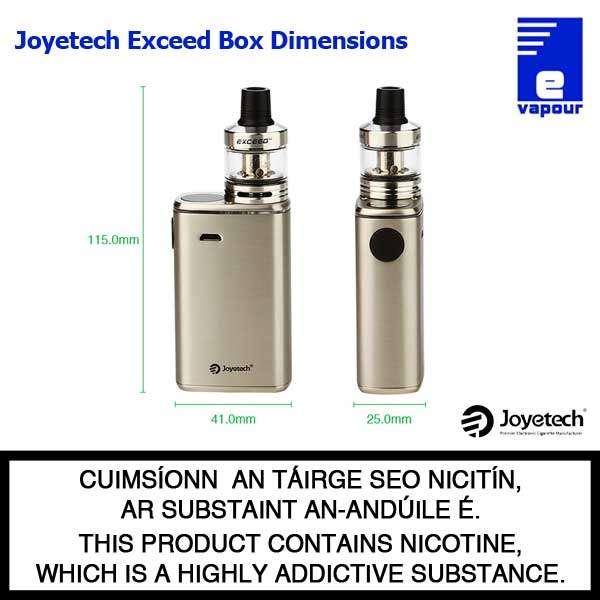 Joyetech Exceed Box Starter Kit - Dimensions