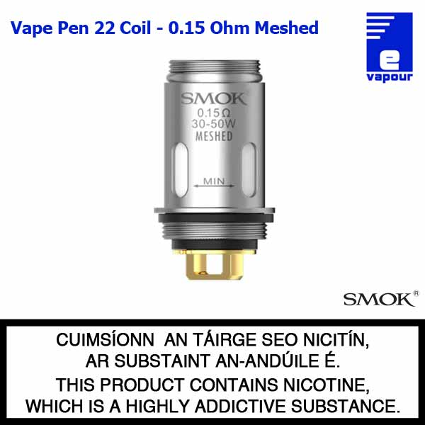 Smok Vape Pen 22 Coil - 0.15 Ohm Meshed