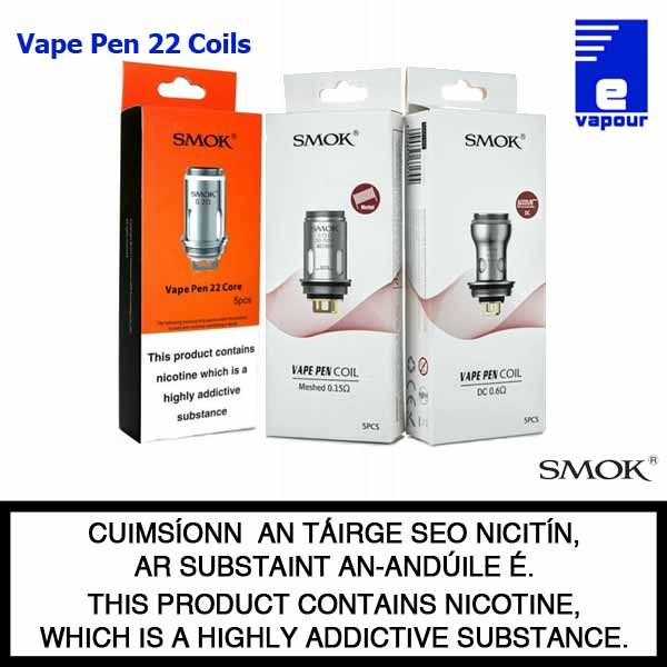 Smok Vape Pen 22 Coils - Old and New Packaging