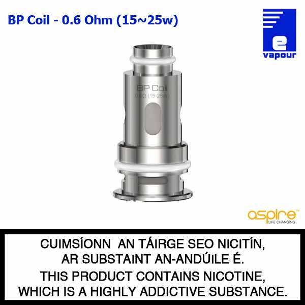 Aspire BP Coil Range - 0.6 Ohm