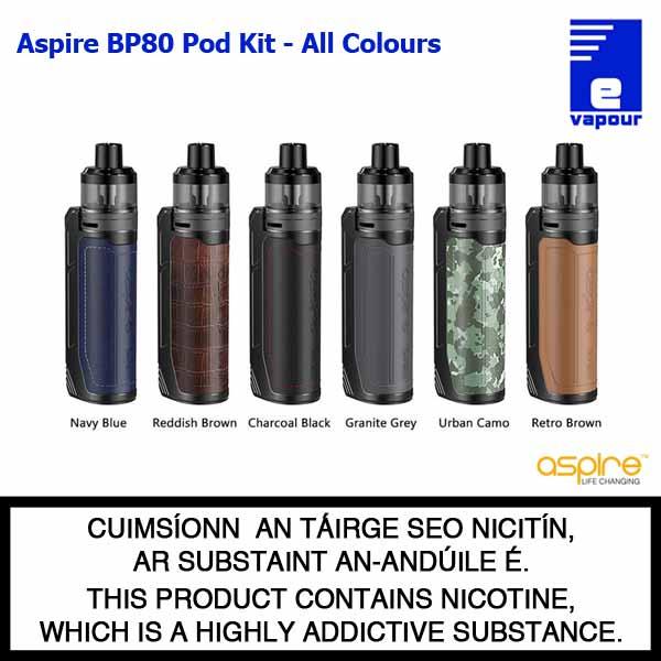 Aspire BP80 Pod Kit - All Colours