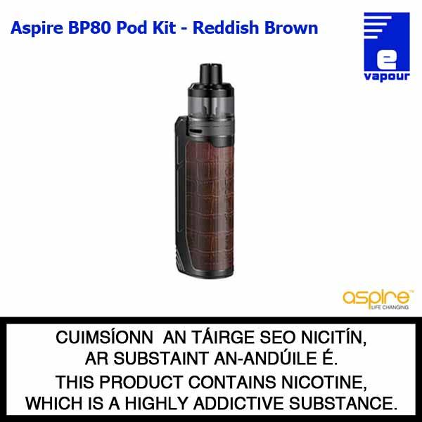 Aspire BP80 Pod Kit - Reddish Brown