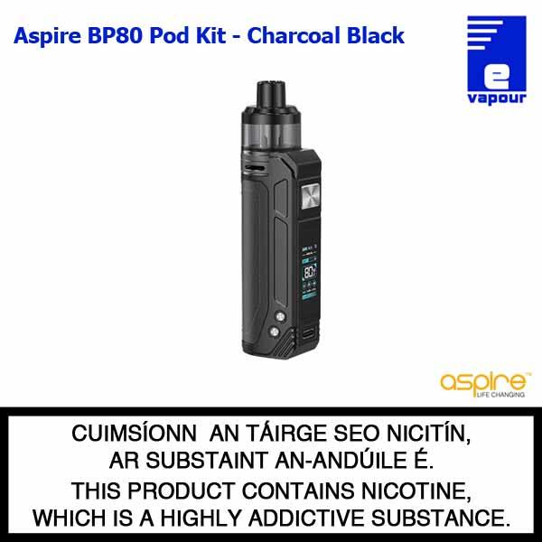 Aspire BP80 Pod Kit - Charcoal Black (Black Stitching)