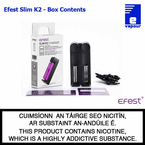 Efest Slim K2 - Box Contents