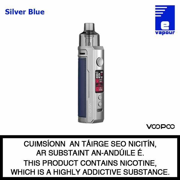 VooPoo Drag X Pod Starter Kit - Silver Blue