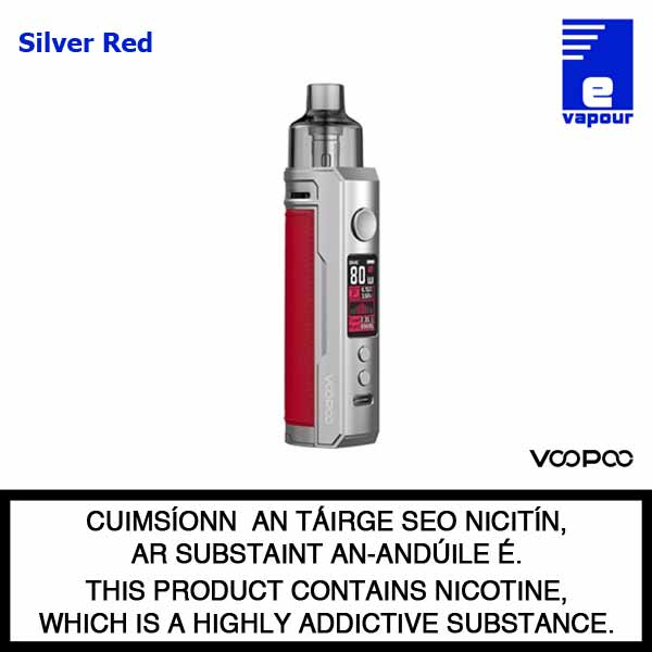 VooPoo Drag X Pod Starter Kit - Silver Red