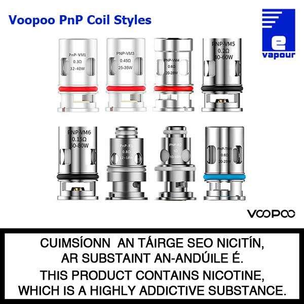 VooPoo PnP Coil Range - Drag X, Drag S, Argus, PnP Pod - Coil Types